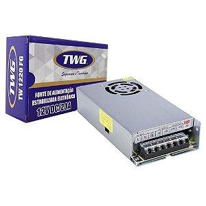 Fonte Estabilizada Eletrônica TWG 12V 20A TW1220 FG
