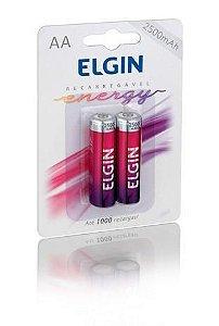 Pilha AA recarregável Elgin 1.2 2500MAH