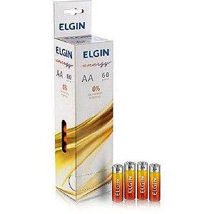 Pilha AA Elgin R6P 1.5 Blister LW01 Caixa com 60
