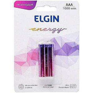 Pilha AAA Recarregável Elgin 1.2V 900MAH Blister com 2