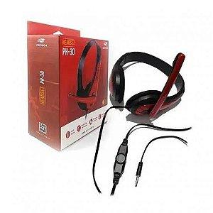 Fone com microfone PH-30BK C3 TECH