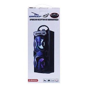Caixa de Som Grasep D-BH4203 BT/FM/USB/MICRO SD