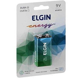 Bateria Elgin 9V Alcalina HT01 Blister com 1