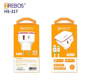 Carregador de Celular para Iphone Hrebos HS-317