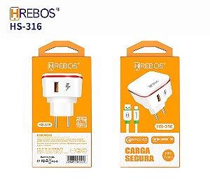 Carregador de Celular Tipo C Hrebos HS-316