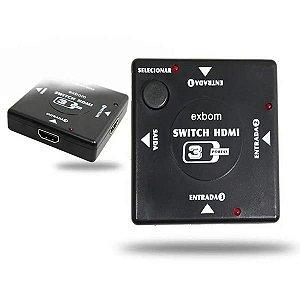 Switch HDMI 3X1 Exbom 1080P
