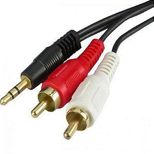 Cabo De Audio P2 Para 2 RCA EXBOM 1.5M CBX-A2RCA15