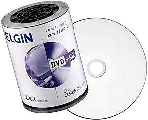 Midia DVD Elgin Dual Layer Printable Com 100UNI