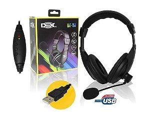 Fone Headset USB Dex DF-57