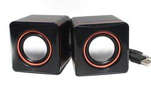 Caixa De Som Multimidia Speaker 2.0 D-02A 5W