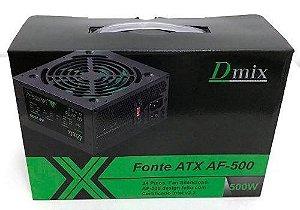 Fonte Atx 500w Dmix AF-500