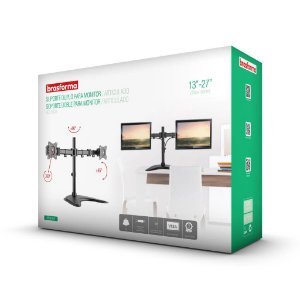 """Suporte Articulado para 2 Monitores LED e LCD de 13″ a 27"""" – Brasforma SBRM 720"""