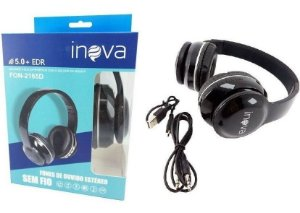 Headphone Bluetooth Inova FON-2165D