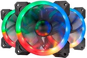 Kit Fan com 3 Unidades Redragon, RGB 120mm, com Controlador, GC-F008