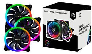 Kit Fans RGB Brazil PC BPC-KDL1252