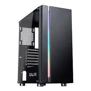 Computador, Gabinete Gamer Galax GX600, I3 9100F, Placa Mãe H310, Placa de Vídeo GTX550TI, 2 Memória DDR4 8GB, SSD 240GB, Fonte 500W, Kit Teclado e Mouse