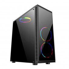 Computador, Gabinete Gamer Bluecase BG-014, Ryzen 5 3600, Placa Mãe A320, Placa de Vídeo GTX550TI, Memória 2x DDR4 4GB, SSD 240GB, Fonte 500W, Kit Cooler