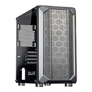 Computador, Gabinete Gamer Galax GX700, I3 10100F, Placa Mãe H410, Memória DDR4 16GB, SSD 240GB, HD 1TB, Fonte 600W