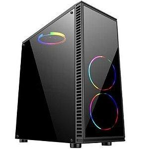 Computador, Gabinete Gamer BG-014, Ryzen 7 2700, Placa Mãe A320, Placa de Vídeo GTX550TI, Memória 2x DDR4 4GB, SSD 240GB, Fonte 500W, Kit Cooler