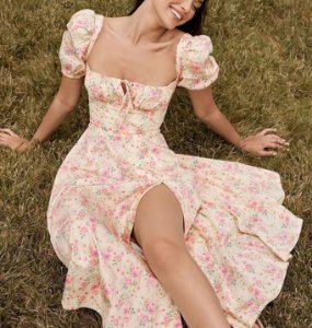 Vestido Florido CAMPONESA