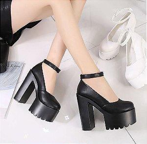 Sapato de Couro Plataforma BLACKFIT