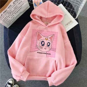 Moletom Hoodie Anime LUNA de SAILOR MOON - Três Estampas