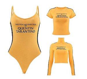 Blusa Cropped de Gola Olímpira & Body QUENTIN TARANTINO