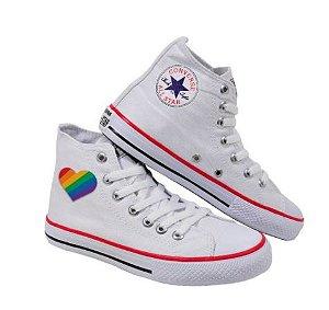Tênis STAR Cano Alto LGBTQ+ ORGULHO