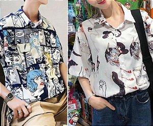 Camisa CHINA & COMICS - Duas Estampas
