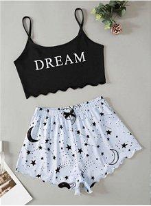 Conjunto Cropped e Shortinho BABY DOLL DREAM - Várias Cores