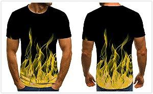 Camiseta EM CHAMAS - Três Cores