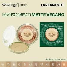 PÓ COMPACTO MATTE VEGANO MAX LOVE - TONS ESCUROS