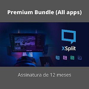 XSplit Pacote Premium (Todos os Apps) 12 Mês