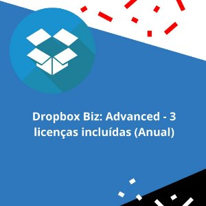 Dropbox Biz: Advanced - 3 licenças incluídas (Anual)