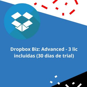 Dropbox Biz: Advanced - 3 lic incluídas (30 dias de trial)
