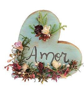 Coracao de mesa em madeira Decor Amor