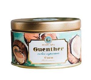 Vela Perfumada Lata Aroma Coco 65g - Guenther