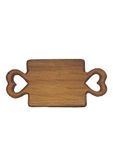Tabua decor em madeira Coracao