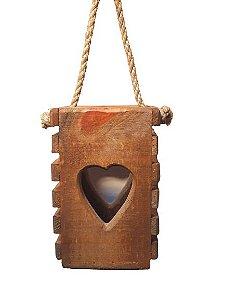Lanterna em madeira rustica Decor