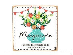 Quadro Box Margarida 12x12
