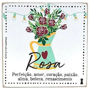 Quadro Box Rosa 12x12
