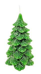 Vela Arvore de Natal Verde Decorativa G