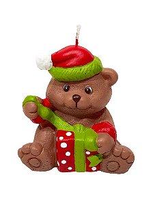 Vela Urso Natalino Decorativo