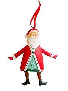 Pingente Papai Noel em resina