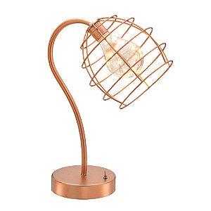 Luminária Decorativa com Led Rose Gold