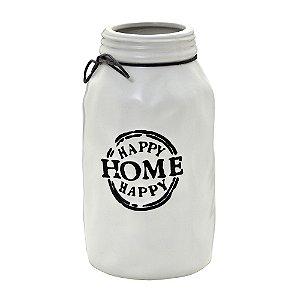 Vaso garrafa em Cerâmica Branco