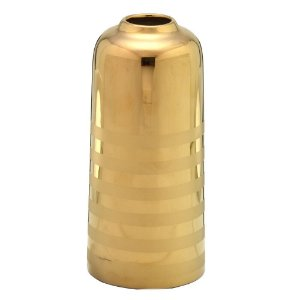 Vaso Decorativo em Cerâmica Dourado