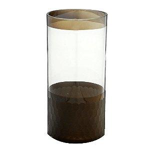 Vaso de Vidro Decorativo Bronze