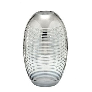 Vaso Decorativo Prata em Vidro