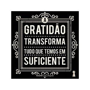 Imã Porta Copos a gratidão